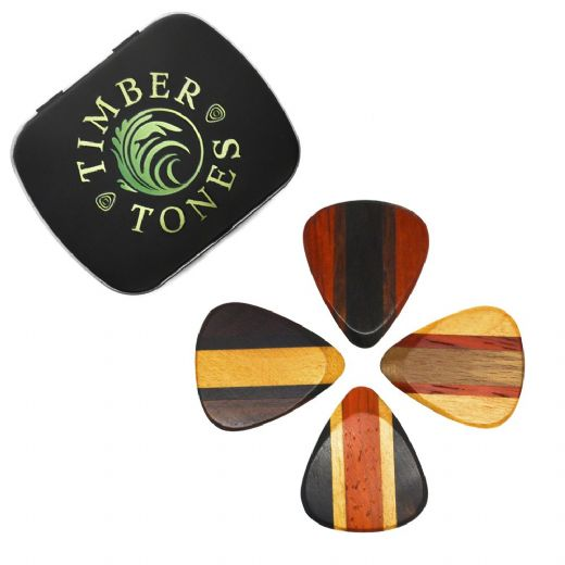 Zone Tones Mixed Tin of 4 Guitar Picks
